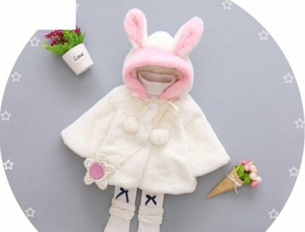 Fur Hood Jacket for Girls