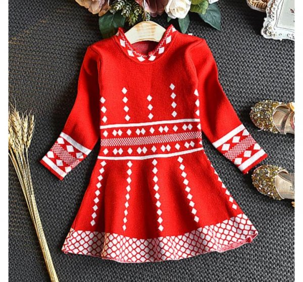 FullSleeve Woolen Dress for Girls