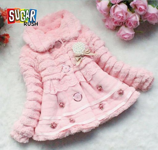 Pink Fur Jacket for Girls
