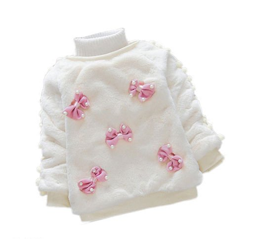 Cute White Fur Sweater for Kids