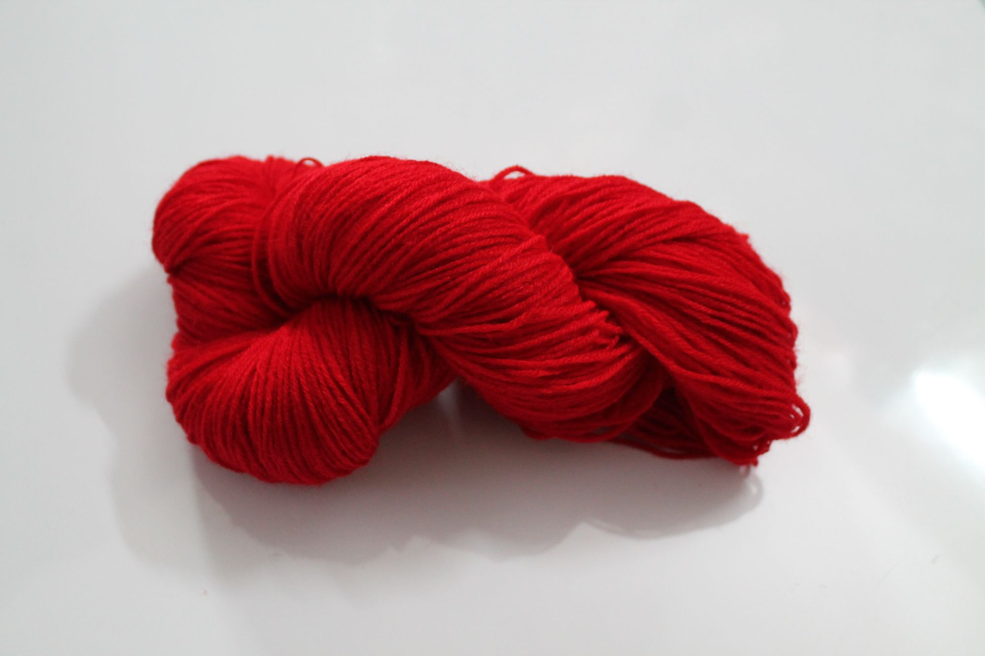 Oswal  Knitplus 4 Ply Acrylic Woolen Yarn - Red
