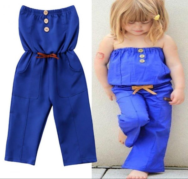 Indigo Tube Jumpsuit