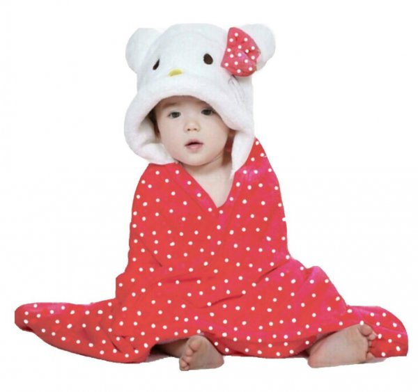 Infant Bathrobe With Hood
