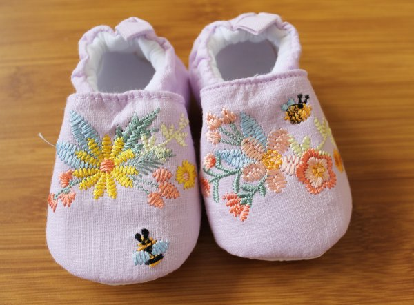 Infant Embroidered Booties