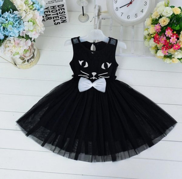 Kitty Black Frock