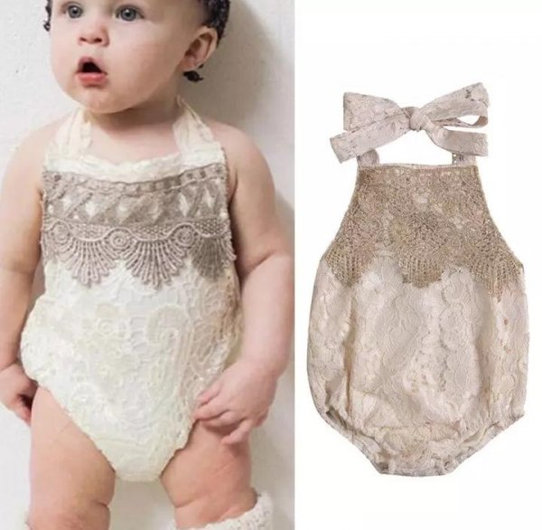 Lace Golden Romper