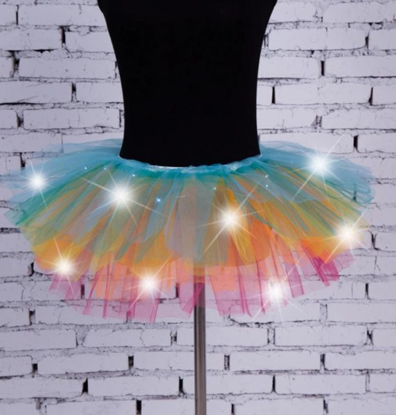Led Multicolored Tutu Skirt