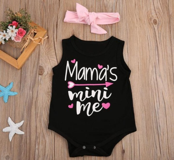 Mini Me Romper with matching Headband