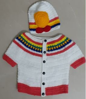 Multicolored Sweater With Matching Cap