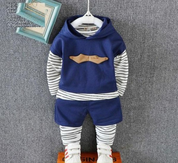 Navy Blue 2 Pc Set for Boys