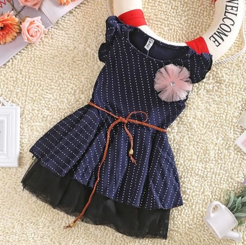 Navy Blue Frock with Belt