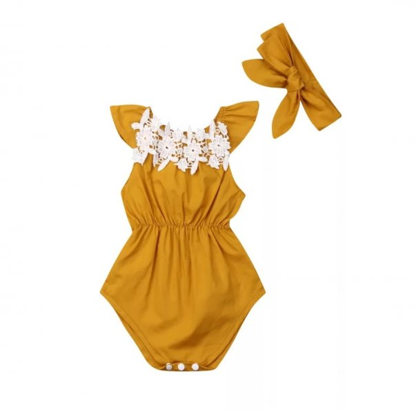 Ocre Romper with Headband
