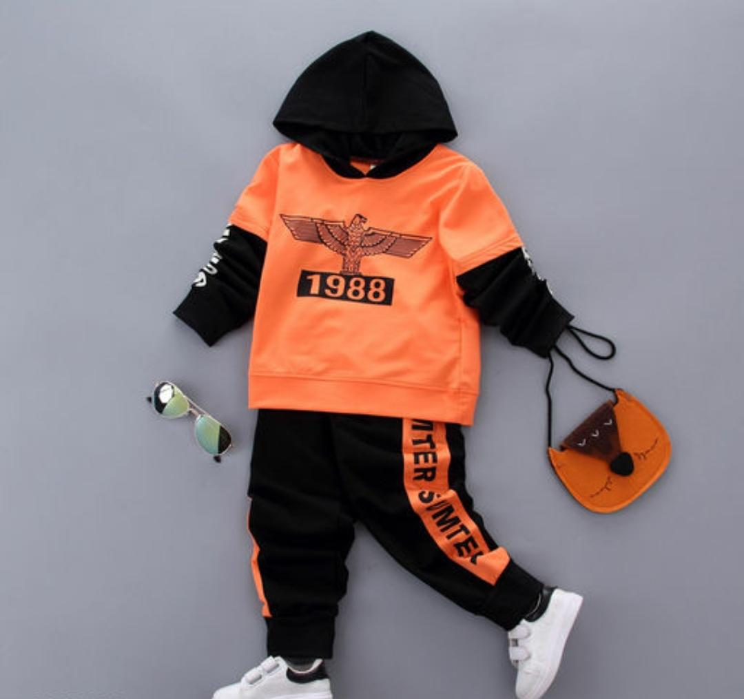 Orange and Black Hood Set