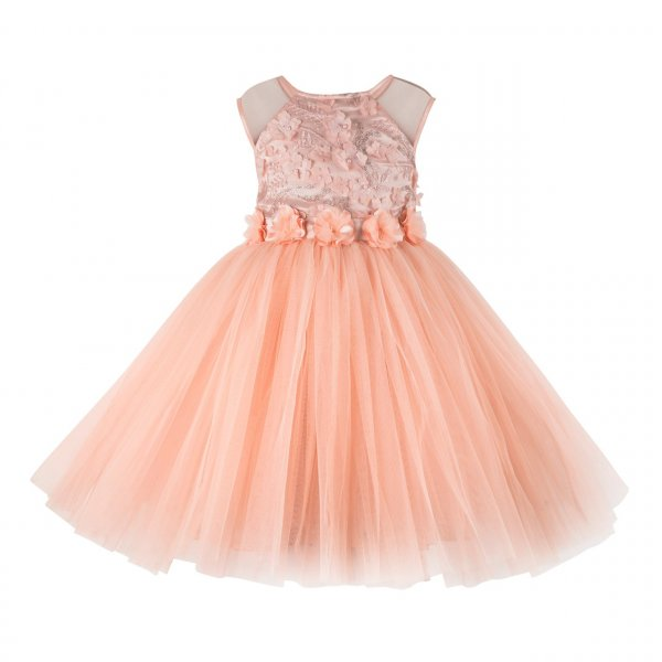 Peach Embellished Frock