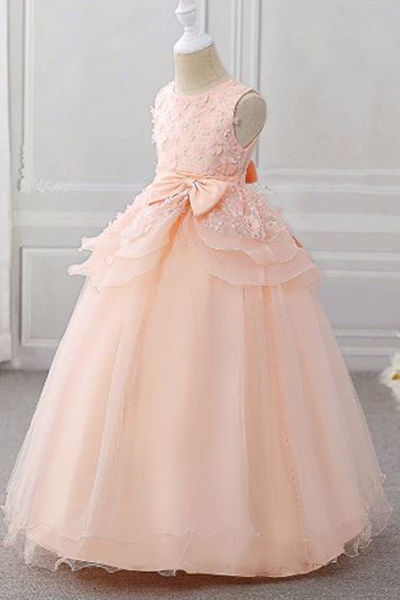 Peach Full Length Gown