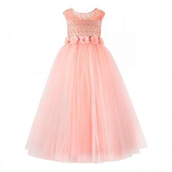 Peach Gown for Girls
