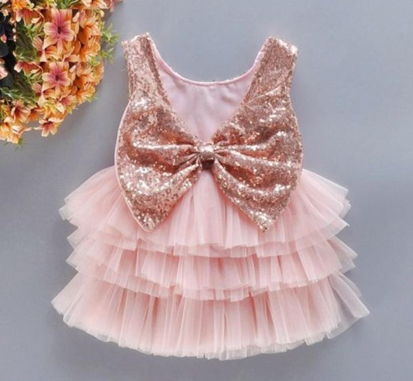 Peach Party Waterfall Frock
