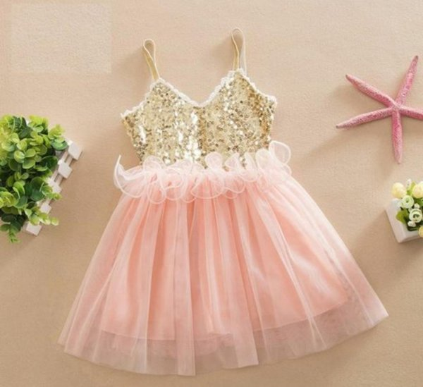 Peach Sequin Frock