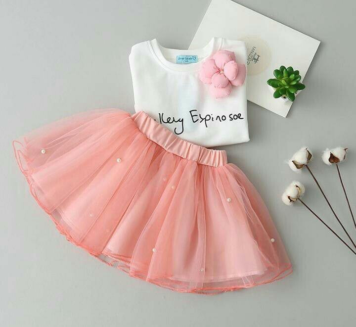Pearl Embellished Skirt Set