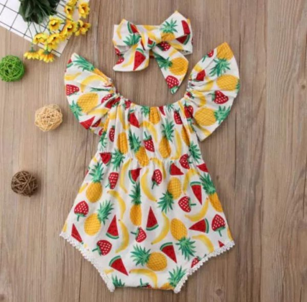 Pineapple Romper with Headband