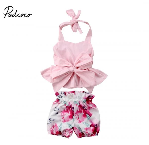 Pink Bow Summer Set