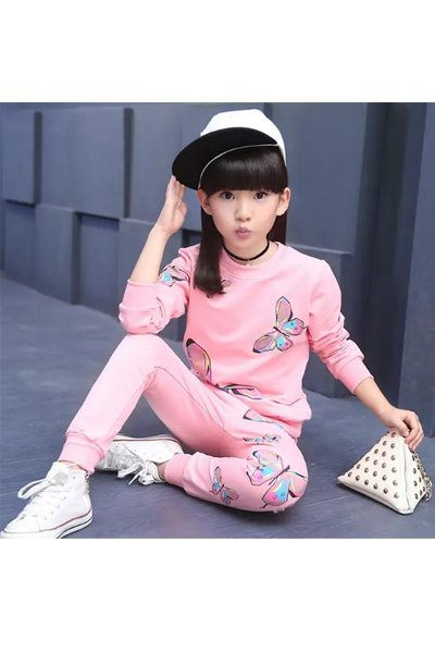 Pink Butterfly Tracksuit