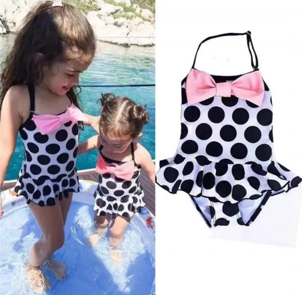 Polka Pattern Stylish Swimwear