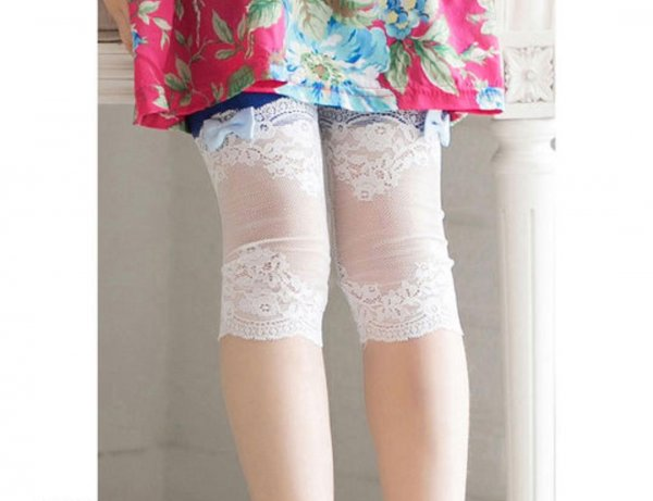 Pretty Bow Cotton Capri for Girls