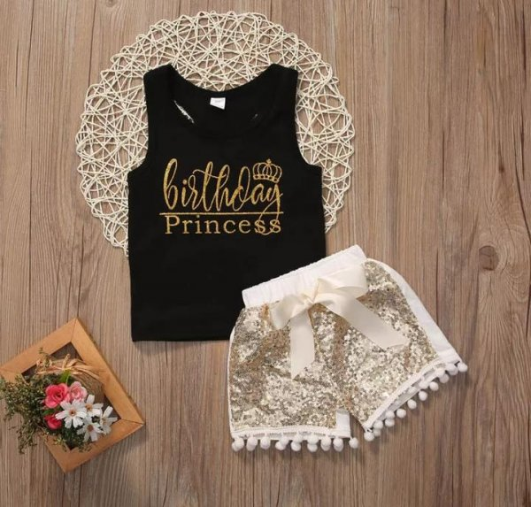 Princess Top With Sequin Short