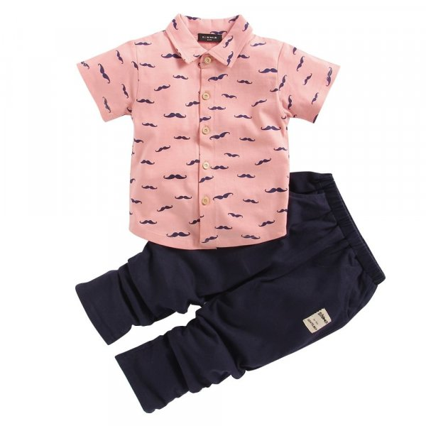 Printed Pink Summer Shirt Set