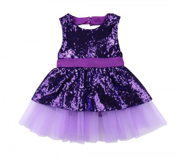 Purpel Sequin Frock