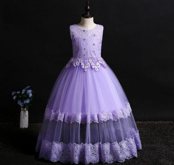 Purple Full Length Gown