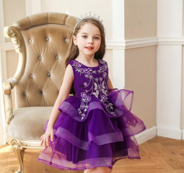 Purple Multilayered Frock