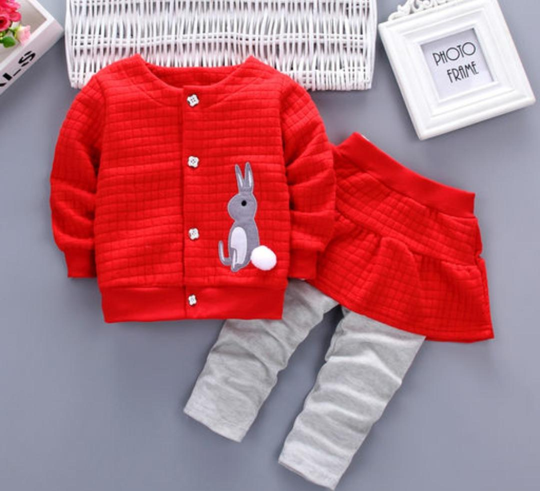 Red 2 Pc Set for Girls