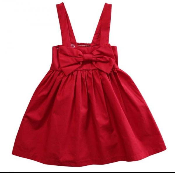 Red Bow Frock with Adjustable straps
