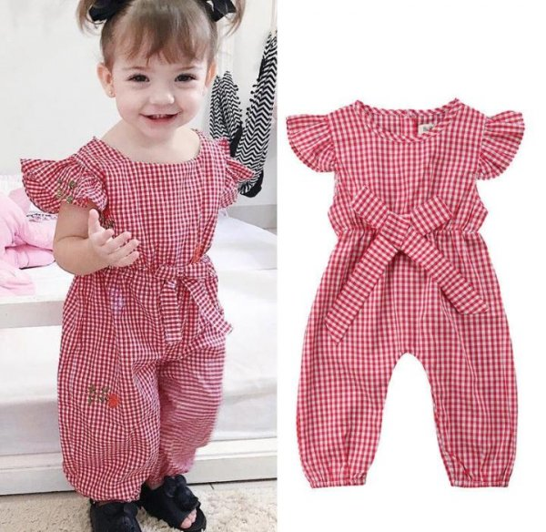 Red checked Jumpsuit