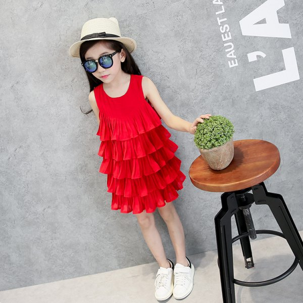Red Frill Dress for Summers