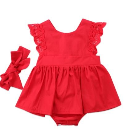 Red Frock Romper