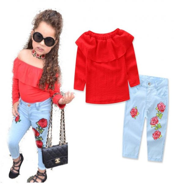 Red FullSleeve Top and Pants