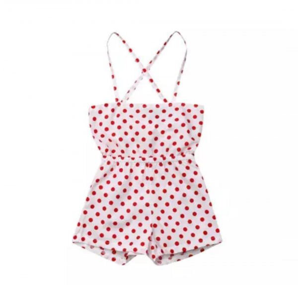 Red Polka Playsuit