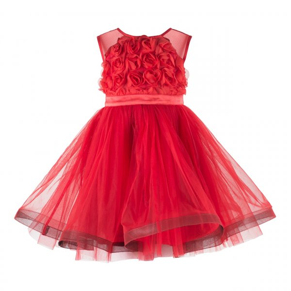 Red Rosy Frock