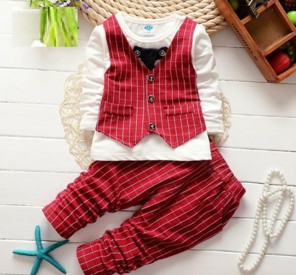 Red Semi Formal Set with Tie