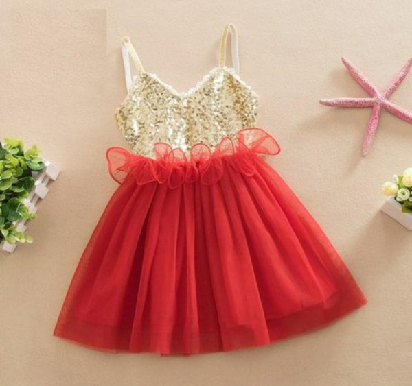 Red Sequin Frock