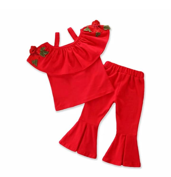 Red Stylish Shoulder Design Set