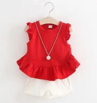 Red Top with White short