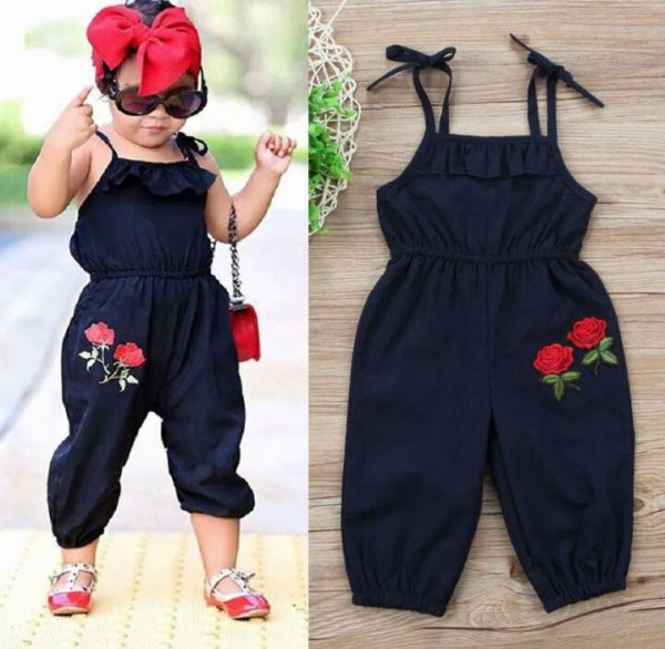 Rose Applique Jumpsuit