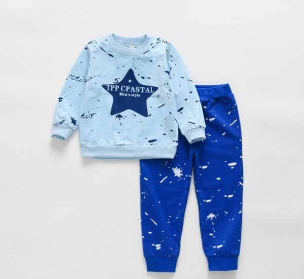 Star Print Blue Boys Set