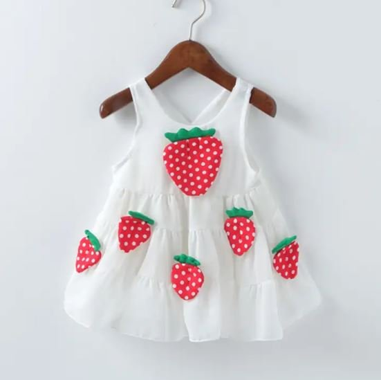 Strawberry Applique Frock