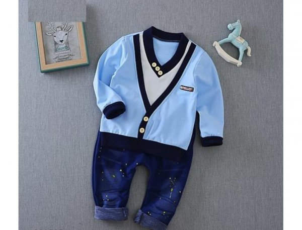 Stylish Blue Boys Set