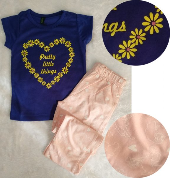 Summer Casual Set with Blue Colour